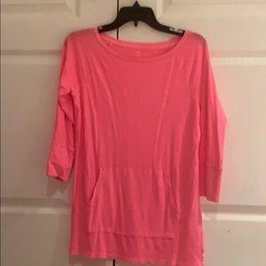 Gap hot pink 3/4 shirt, size small